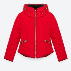 Zara puffer quilted jacket - S